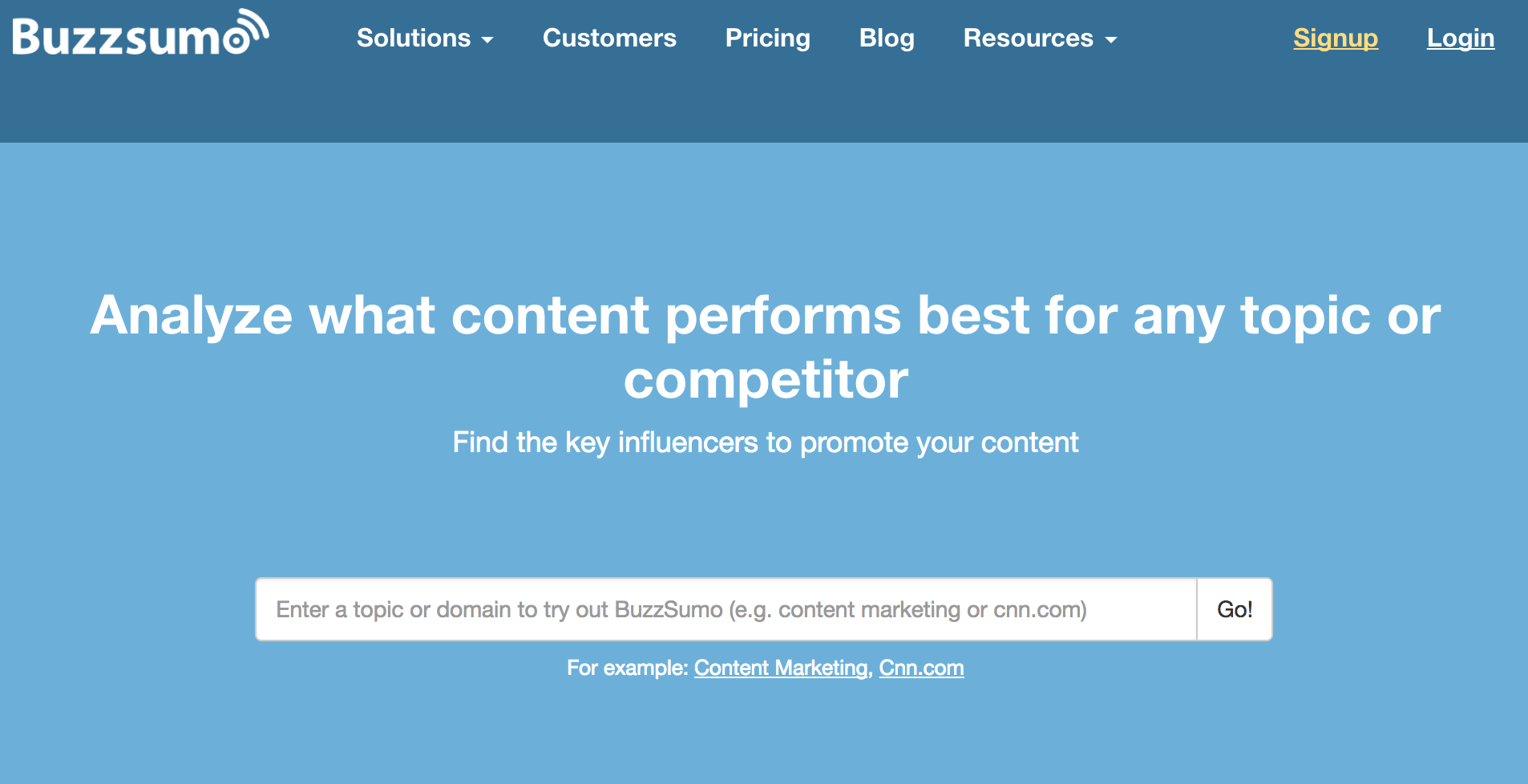Buzzsumo for Conversion Rate Optimization