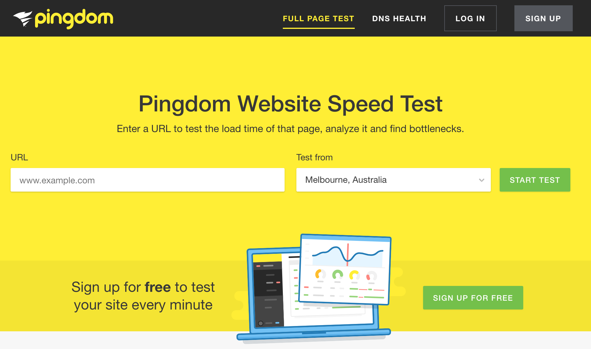 Pingdom Website Speed Test for Conversion Rate Optimization