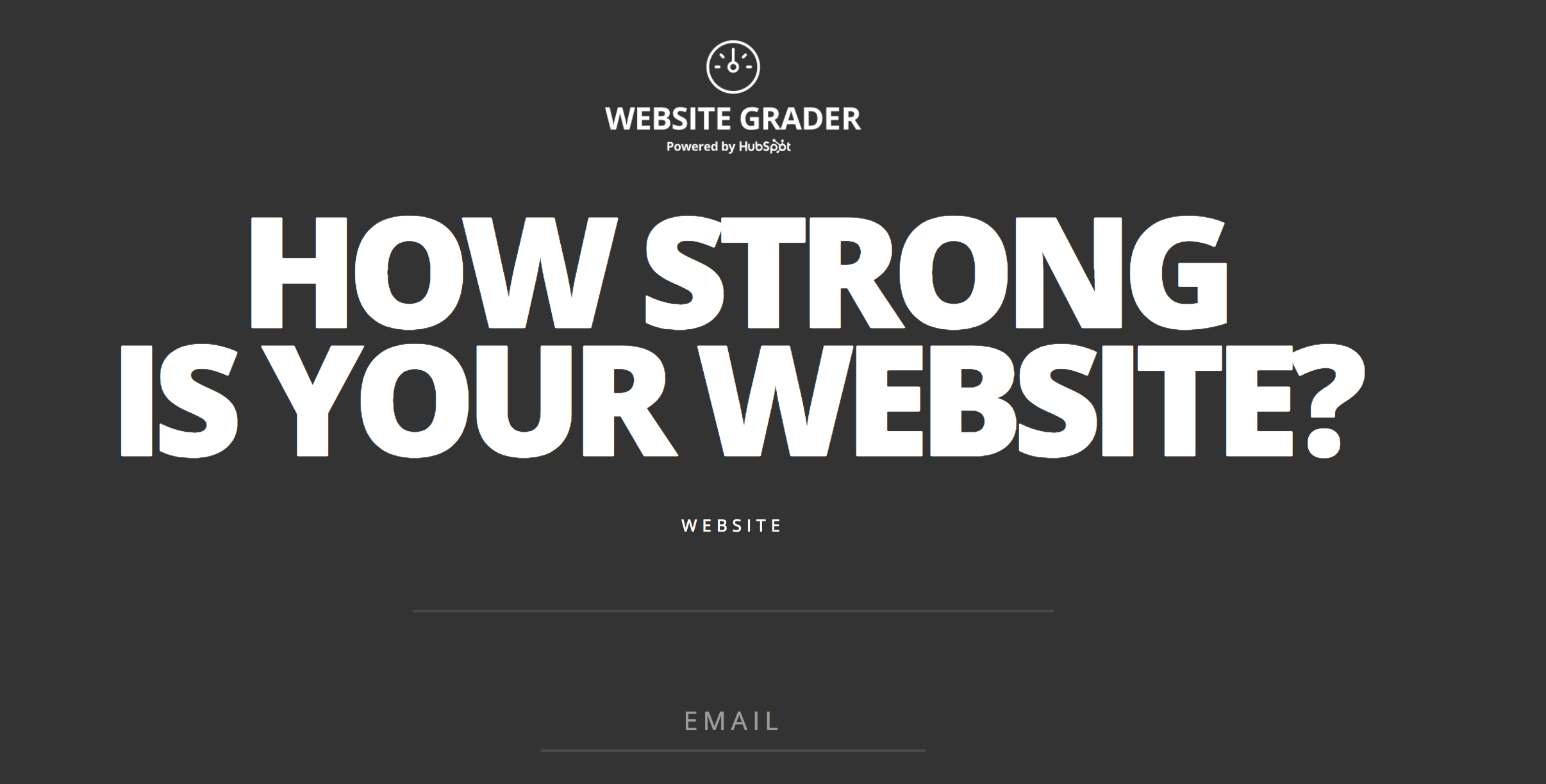 Hubspot website grader for conversion rate optimization